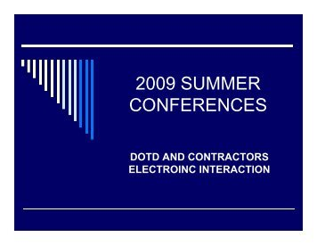dotd and contractors electroinc interaction
