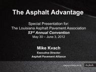 The Asphalt Advantage - Louisiana Asphalt Pavement Association