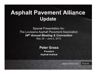 Asphalt Pavement Alliance - Louisiana Asphalt Pavement Association