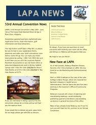 March 2012 Newsletter - Louisiana Asphalt Pavement Association