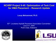 NCHRP Project 9-40 - Louisiana Asphalt Pavement Association