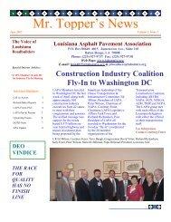 June 2003 Issue - Louisiana Asphalt Pavement Association
