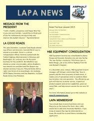 LAPA NEWS - Louisiana Asphalt Pavement Association