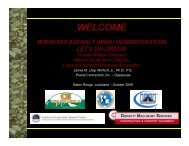 (wma) demonstration - Louisiana Asphalt Pavement Association