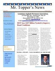 February 2003 Issue - Louisiana Asphalt Pavement Association