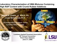 Laboratory Characterization of HMA Mixtures Containing High RAP ...