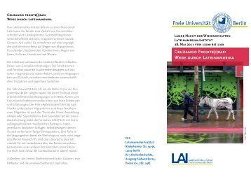Programm - Lateinamerika-Institut
