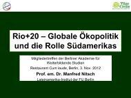Rio+20 - Lateinamerika-Institut