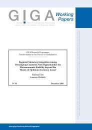 Regional Monetary Integration among Developing Countries: New ...