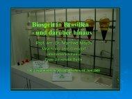 Biosprit in Brasilien - und darüber hinaus - Lateinamerika-Institut ...