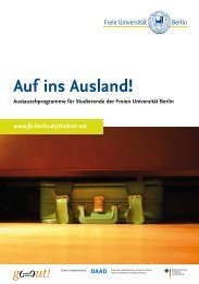 Auf ins Ausland! - Freie Universität Berlin