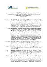 Veranstaltungen und Aktivitäten des Bereichs Literaturen und ...