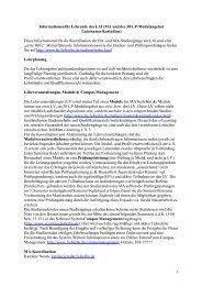Informationen für Lehrende des LAI - Lateinamerika-Institut