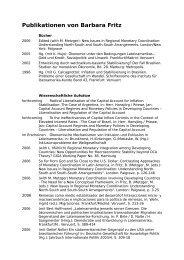 Publikationen von Barbara Fritz - Lateinamerika-Institut
