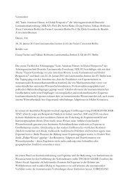 Bericht - Lateinamerika-Institut - Freie Universität Berlin