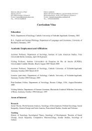 Curriculum Vitae - Lateinamerika-Institut - Freie Universität Berlin