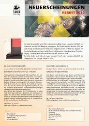 Verlagsprogramm Herbst 2012 Bibliothek des ... - Laika Verlag