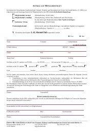 Antrag auf Mitgliedschaft - Freie Universität Berlin