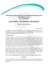 """""""Las Américas – The Americas – Die Amerikas"""""""