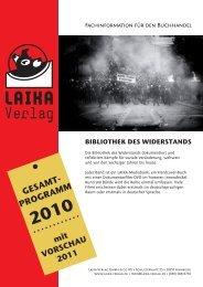 Verlagsprogramm 2010 - Laika Verlag