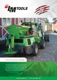 LM Tools Spinner spreader - Oy LAIMU Ab