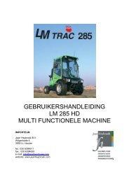 gebruikershandleiding lm 285 hd multi functionele machine