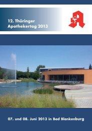 12. Thüringer Apothekertag 2013 - LAKT