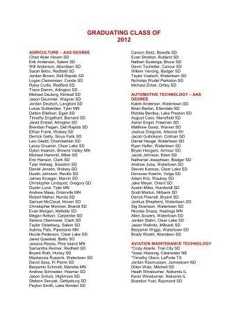 GRADUATING CLASS OF 2012 - Lake Area Tech!
