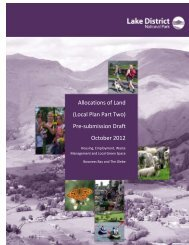 Local Plan Part Two - Lake District National Park