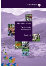 Excluded Site Assessments (PDF) - Lake District National Park