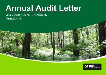 Annual Audit Letter 2010/11 (PDF) - Lake District National Park