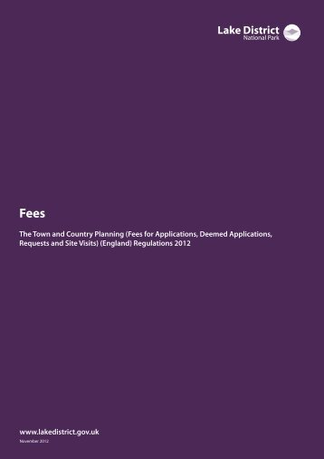 Fees Guidance Note (PDF) - Lake District National Park