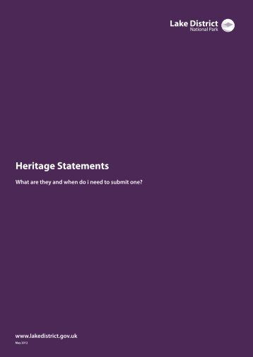 Heritage statements guidance note (PDF) - Lake District National Park