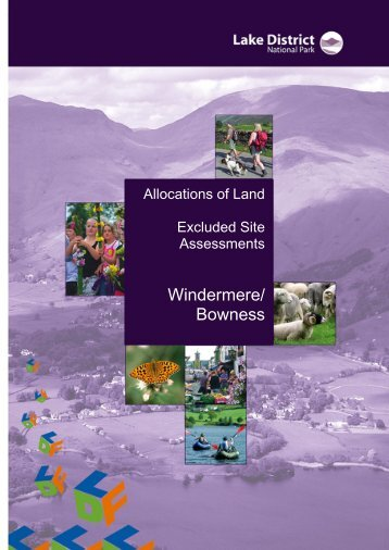 Windermere and Bowness - Excluded Site Assessments (PDF)