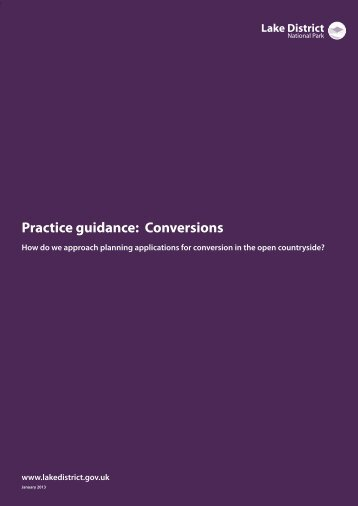 Conversions practice guide (PDF - Lake District National Park