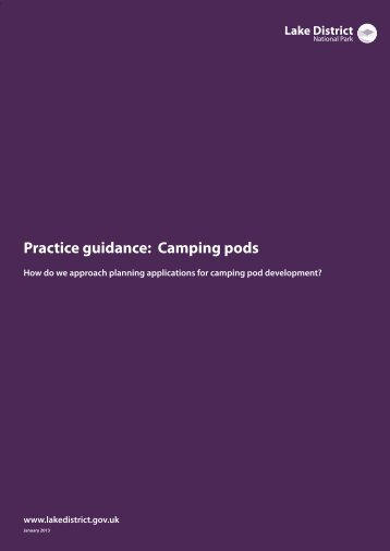 Practice guidance: Camping pods - Lake District National Park