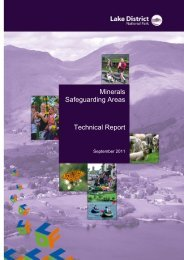 Minerals Safeguarding Areas Preferred Options technical report