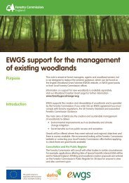 EWGS support for the management of existing woodlands - Forestry ...