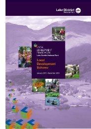 Local Development Scheme Jan 2011 - Lake District National Park