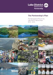 The Partnership's Plan - Lake District National Park
