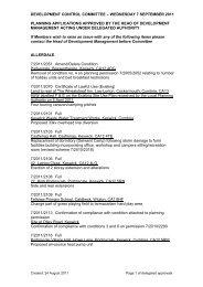 2011_09_07 Delegated Approvals (pdf) - Lake District National Park