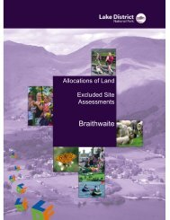 Braithwaite - Excluded Site Assessments (PDF) - Lake District ...
