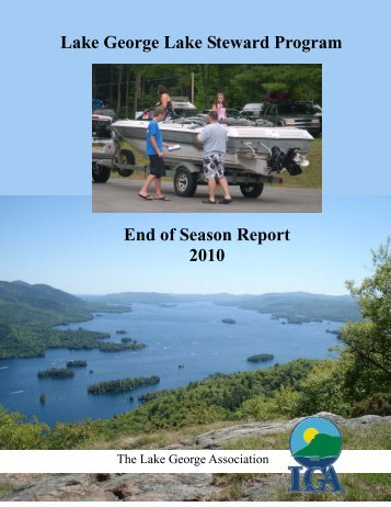 Click here for the complete 2010 report - Lake George Association