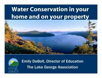 Water Conservation in your home and on your property