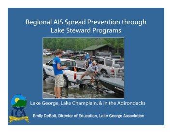 Regional AIS Spread Prevention through Lake Steward Programs