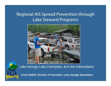 Regional AIS Spread Prevention through Lake Steward Programs