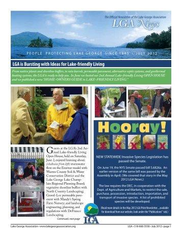 Hooray! x x x x x - Lake George Association