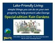 Rain Gardens - Lake George Association