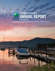 ANNUAL REPORT - Lake George Association