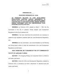 ordinance for changes to land development ... - City of Lakeland